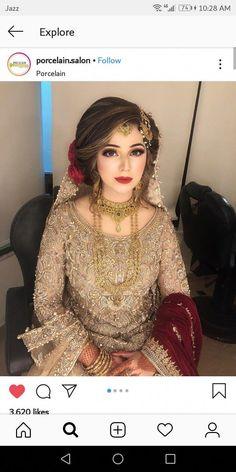 Beautiful bride dress and make up