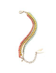 Bracelet Constance L, Triple Tao chez Les Cocottes en papier, 48€.