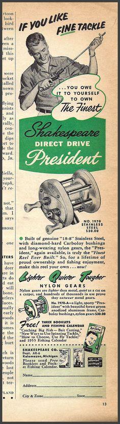 1970 Shakespeare President reel ad.