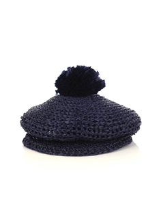 burberry rafia bobble hat