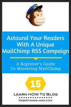 One of the best features of MailChimp is the ability to create unique and beautiful email campaigns for your readers. You can customize them to match your brand and your style. A customized MailChimp RSS campaign will engage your readers and help ensure loyalty from your subscribers. They will want to hear from you regularly. Make your emails beautiful and grow a blog you love. ★ Learn HOW To Blog ★