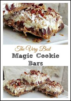 Magic cookie bars-Double Chocolate, coconut, and pecans really rock this snack…