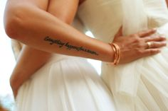 tattooed bride everything happens for a reason Gay wedding Secrets Akumal Laura Croft, Lesbian Wedding, Wedding Bride, Wedding Venues, Luxury Wedding, Pair Tattoos, Mini Tattoos, Pretty Tattoos, Cute Tattoos