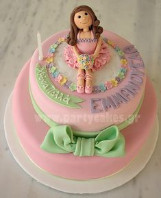 Two-tier ballerina cake by Party Cakes By Samantha, via Flickr
