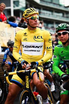 Marcel Kittel at the start of stage two of the 2014 Tour de France  Please follow us @ http://www.pinterest.com/wocycling
