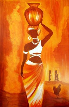 African Woman original oil painting available directly from Artist Loraine Yaffe. Email lyaffe7@gmail.com