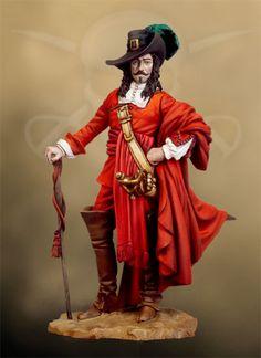 Francois L´Olonnais, 1660 PC-10 54 mm 1/32 | Pirates Of The Caribbean | Andrea Miniatures | ANDREA DEPOT USA, $39