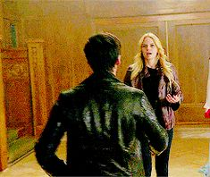"""Swan!"" Killian and Emma.  I love it when you realize that she's like ""dude, we've been apart for 10 hours"" and has no idea that he thought she was going to die."