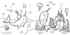 Coloring Book Art, Mandala Coloring, Unicorn Wall, Sea Creatures, Calendar, Mermaid, Presents, Amazon, Store
