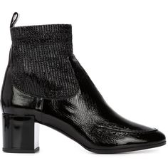 Pierre Hardy 'Ace' ankle boots (€1.055) ❤ liked on Polyvore featuring shoes, boots, ankle booties, black, patent boots, black shootie, black booties, black ankle boots and patent leather booties