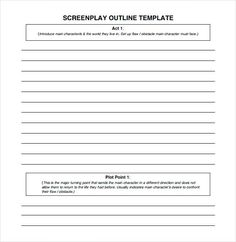Screenplay Format Template Play Script Blank Outline Writing Free