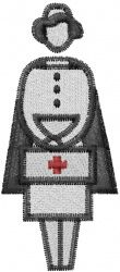 Machine Embroidery Designs Embroidery Design: Nurse with bag 2.95 inches H x 1.28 inches W