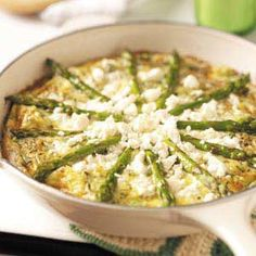 Feta Asparagus Frittata Recipe from Taste of Home -- shared by Mildred Sherrer of Fort Worth, Texas