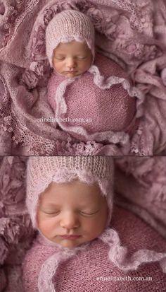 Hannah bonnet  newborn photo prop  mohair & by MyLittleRarities