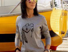 """T-shirt """"KŁÓDKA SZCZĘŚCIA"""" RĘKAW - AK-Creativo - Koszulki z nadrukiem"""