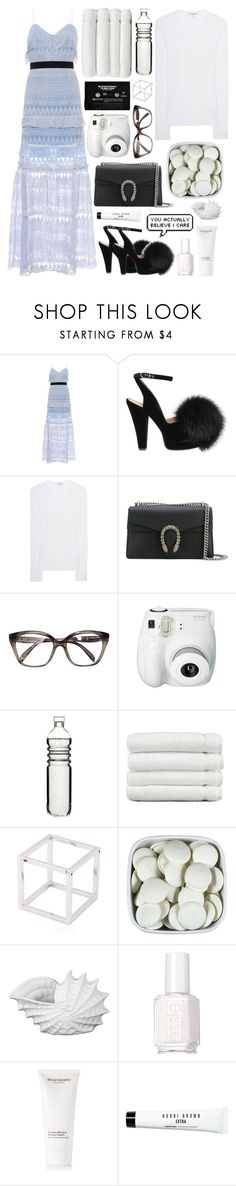 """""""I call your name but you're not around I say your name but you're not around"""" by natjulieta ❤ liked on Polyvore featuring self-portrait, Sonia Rykiel, James Perse, Gucci, Emilio Pucci, Fujifilm, Dot & Bo, Linum Home Textiles, Caterina Zangrando and CASSETTE"""