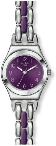 Swatch Plummy Purple Women's Stainless Steel Case Steel Bracelet Watch YSS275G Swatch. $95.00. Steel Bracelet Strap. Water Resistance : 3 ATM / 30 meters / 100 feet. Analog Display