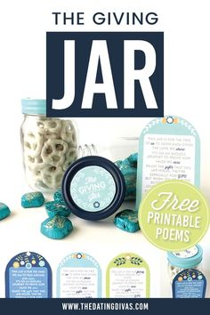 Thanksgiving Gift Idea- The Giving Jar Thanksgiving Gifts, Free Printables, Jar, Crafts, Manualidades, Free Printable, Handmade Crafts, Craft, Arts And Crafts