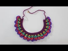 Beaded Necklace Making (With Shish)- Boncuklu Kolye Yapımı (Şiş İle) Beaded Necklace Making (With Shish) - Crochet Bracelet, Bead Crochet, Crochet Earrings, Jewelry Patterns, Beading Patterns, Beaded Jewelry, Beaded Necklace, Popular Necklaces, Japanese Sewing Patterns