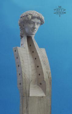 Viola da gamba-Mariusz Dydo head sculpture