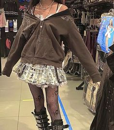 Indie Outfits, Edgy Outfits, Grunge Outfits, Cute Casual Outfits, Pretty Outfits, Fashion Outfits, Pastel Goth Outfits, 2000s Fashion, Casual Clothes