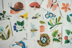 Illustrated memory game / illustrations Oana Befort