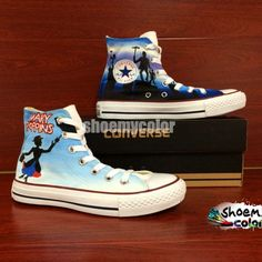 Mary Poppins Converse Shoes Women Hand Painted High Top Sneakers ...