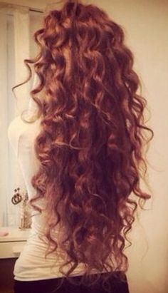 Long curly hair #gorgeoushair