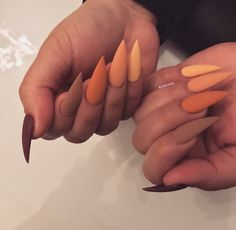 192 best fall nail art designs in 2019 29 Perfect Nails, Gorgeous Nails, Pretty Nails, Cute Fall Nails, Aycrlic Nails, Manicure, Matte Nails, Glitter Nails, Coffin Nails