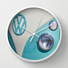 Classic VW Camper Wall Clock by Alice Gosling - $30.00 #clock #time #walldecor…