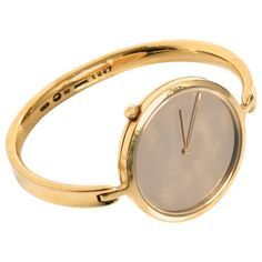 Georg Jensen Vivianna Torun Lady's Yellow Gold Wristwatch Ref 1227   From a unique collection of vintage wrist watches at https://www.1stdibs.com/jewelry/watches/wrist-watches/