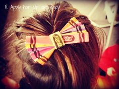 Through the Looking Glass: Crayola Hair Bows
