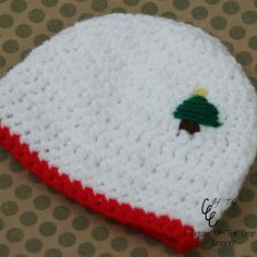 (4) Name: 'Crocheting : Preemie/Newborn Christmas Tree Hats
