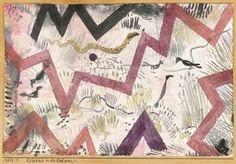 Paul Klee - Erlebnis in den Lechauen, 1918,...