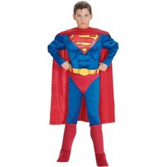 Buy Superman Muscle Chest Kids Costume