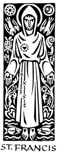 Ade Bethune's Francis woodcut. (Could be adapted into an awesome tattoo.)