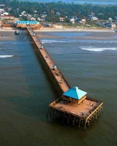 The new pier on Folly Beach I have known this beach all my life danced to Chubby checkers who was playing there on the original pier which burned and the next pier Hugo took out.