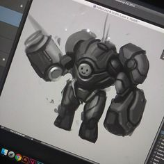 WIP.....Feels good to be back at again!  #conceptart #mech #industrialdesign by luqzee