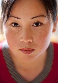 North Korean girl in Chilbo area by Eric Lafforgue