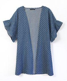 Another great find on #zulily! Denim Distressed Kimono #zulilyfinds