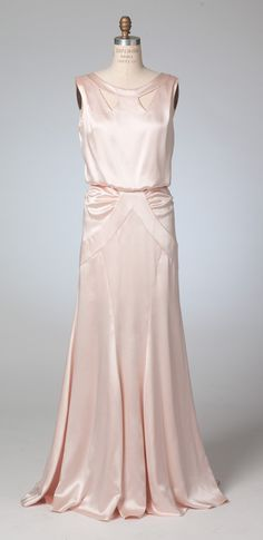 Stunning vintage gown you can sew for your own. Front view of M7154, Archive Collection 1930s-era gown sewing pattern from McCall's. Best for lightweight, drapey fabrics like silk charmeuse. Perfect for wedding gowns, bridesmaid dresses, or other special occasions.