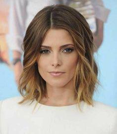 coupe de cheveux mi long femme 2015 avec balayage ombre