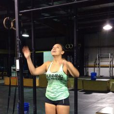 """Even small accomplishments lead to big goals!! Raquel gets her first pull up (from a jump) after years of trying! She incorporated a pull-up progression…"""