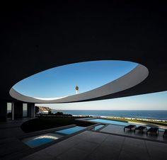 Idea Elliptic House by Mario Martins Atelier in Praia da Luz, Portugal