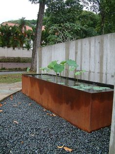 Corten water feature