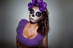 ! MissBeautyAddict ! Skull Halloween Makeup