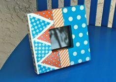Orange and Blue Frame by ColorsbySherri on Etsy, $25.00