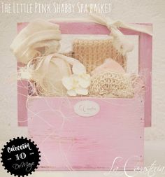 The Little Pink Shabby Spa Basket Gifts Sachets
