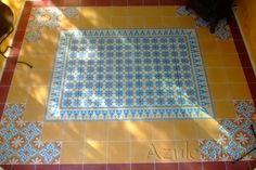 Cement tiles Living Room - Amarillo 01 - Egal Rosso S840 - Egal Amarillo S2.2 - Azule 06 + Border + Corner  - Project van Designtegels.nl