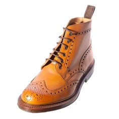 LOAKE BEDALE Gents Mens Brogue Tan Leather Boot MADE IN ENGLAND